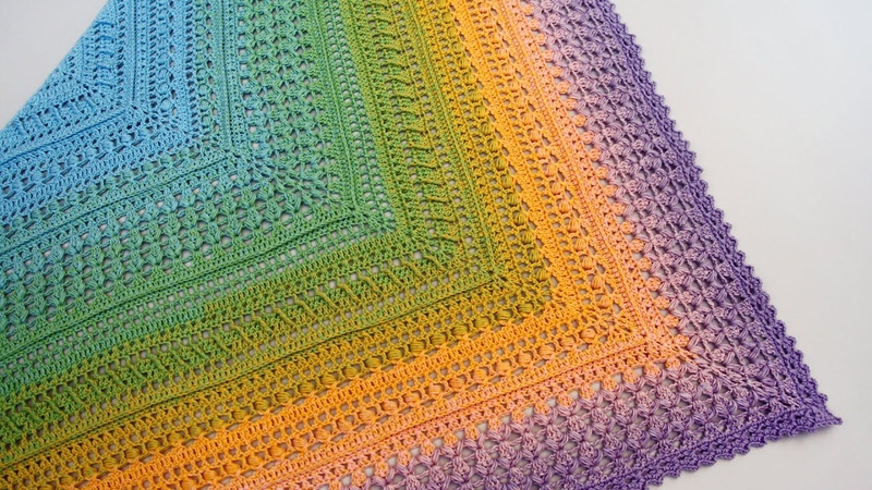 Шаль ОЛИВИЯ крючком бактус крючком Crochet Shawl