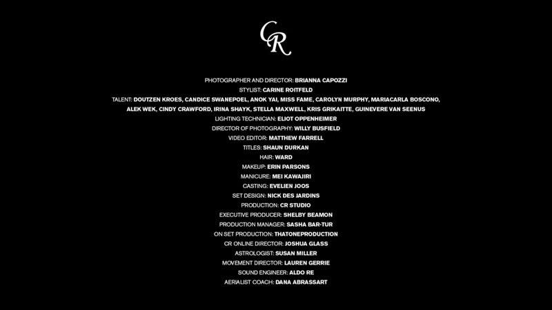 Irina Shayk Candice Swanepoel Cindy Crawford for Carine Roitfeld 2020 Calendar