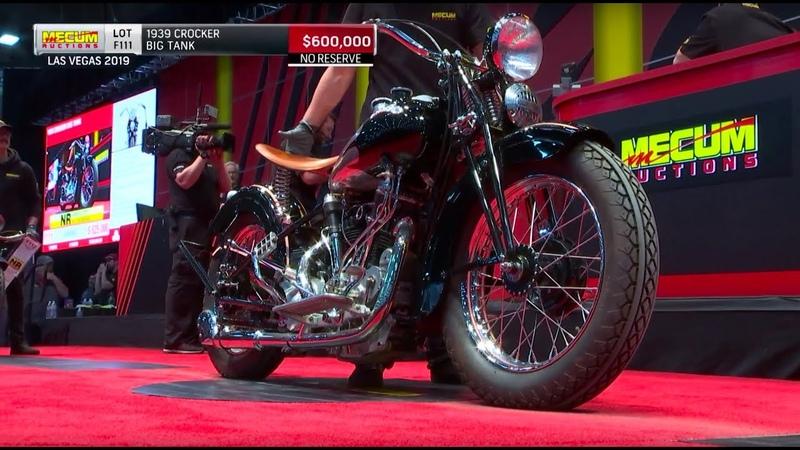 1939 Crocker Big Tank Hammers for $640 000 Mecum Motorcycles 2019