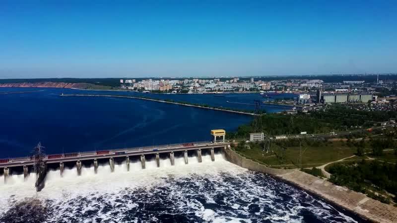 Сброс воды на Жигулевской ГЭС 30 мая 2020 года Водохранилище Тольятти 4K