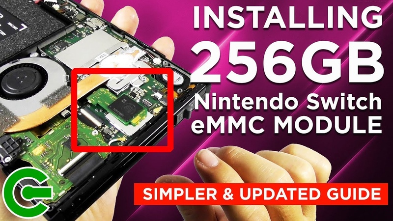 Installing the 256GB Nintendo Switch eMMC module Updated Guide
