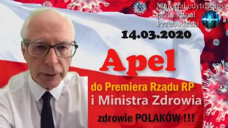 Apel do Premiera i Ministra Zdrowia Jerzy Zięba 14 03 2020