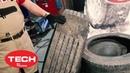 TECH ●live как убрать ползун на грузовой покрышке Используем резину и нарезаем протектор