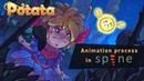 Potata - Animated illustration Angry Fairy - Timelapse