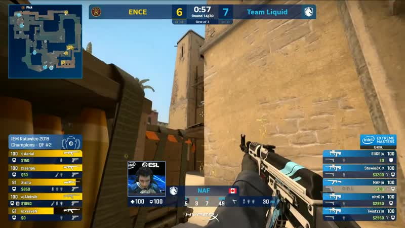 CASTED BY TraPasArthur | CS-GO - Liquid vs. ENCE [Mirage] Map1 - Quarterfinals - Champions Stage - IEM Katowice 2019