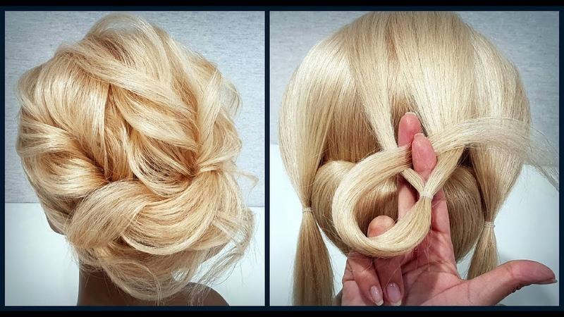 Красивые прически пошагово.Текстура волос из резинок.Легкий Способ!Hairstyle from the gum.Easy Way