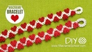 DIY Easy Valentine's Day Heart Bracelet Tutorial Macrame School