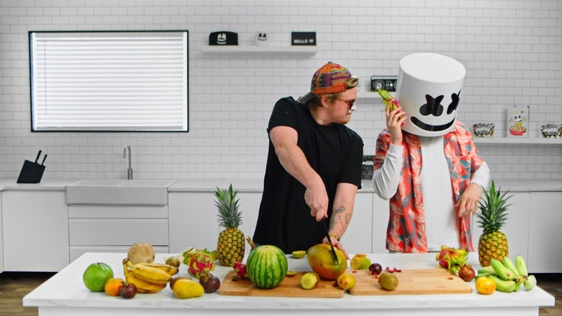 IRL Fruit Ninja with Evan Breen | Cooking with Marshmello