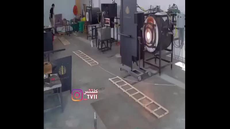 Ручное изготовление элементов крана из стекла