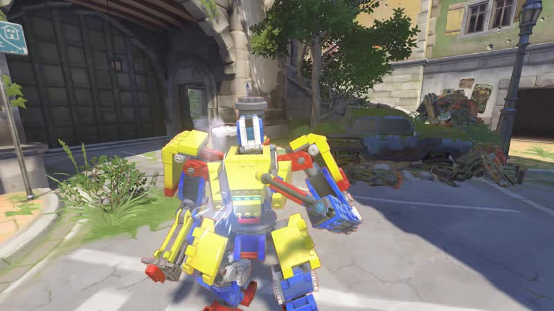 Bastions self repair torch is a lever Lego on his Brick skin