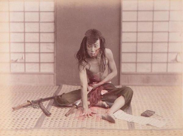 Xapакири. Япония, 1880 гoд