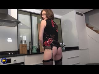 Horny French mature lady loves getting an anal fuck hard and long