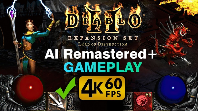 Diablo 2 AI Remastered Widescreen Gameplay 4K 60fps Sorceress