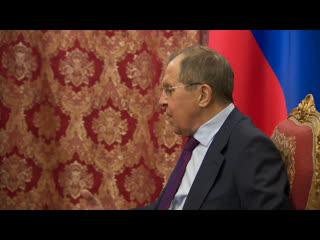 Сергей Лавров проводит встречу со спецпосланником генерального секретаря ООН по Сирии