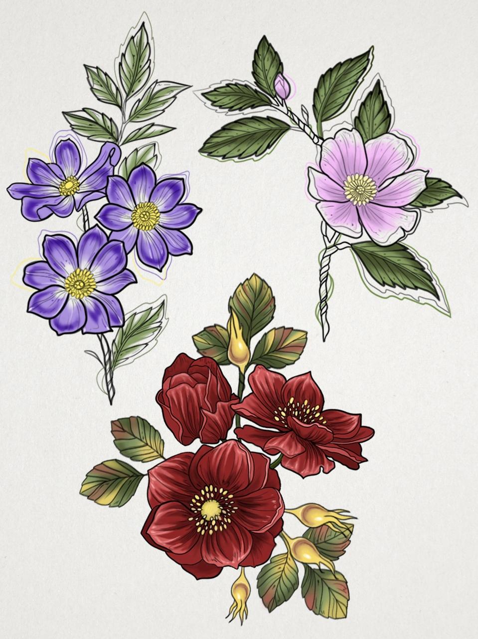 Всем привет) Я долго думала куда направить свои художественные навыки и решила выбрать путь татуировщика)) В связи с этим, я хочу собрать свое портфолио из очень красивых и нежных работ по своим эскизам (а может и по Вашим).