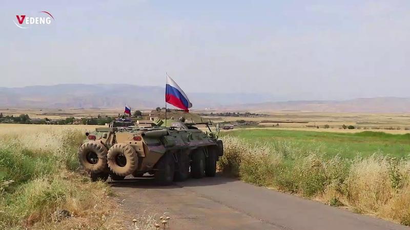 بالفيديو مواطنو قرى قصر ديب و كاسان يرفضون تمركز القوات الروسية في قراهم