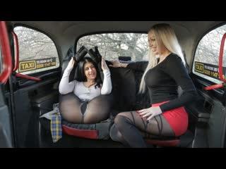 Amber Jayne, Atlanta Moreno - Two Dirty Northern Sluts (Lesbian, Big TIts, Blonde, Black Hair, Sex Toys, Car, Fake Taxi)
