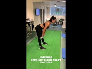 DUA LIPA training routine 2019