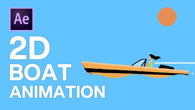 2D Boat Animation in After Effects Motion Graphic Tutorial