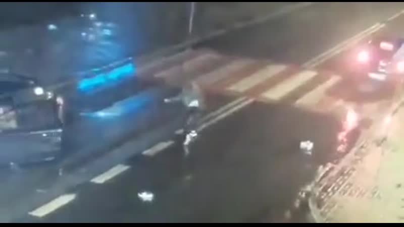 Total piece of shit hits a teenage girl crossing the road and checks his car for damage first   Перевод: Общая кусок дерьма удар