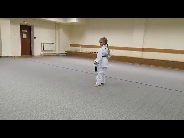 КАНКУ ДАЙ Сычова Арина 6 7 лет х Старая Станица ОНЛАЙН турнир по каратэ по ката