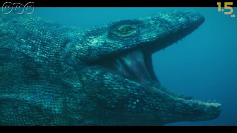【恐竜CG】ティラノサウルスも狙う!海の王者モササウルスの狩り【NHKスペシャル 恐竜超世界×NHK1.5ch】Japanese dinosaurs CG
