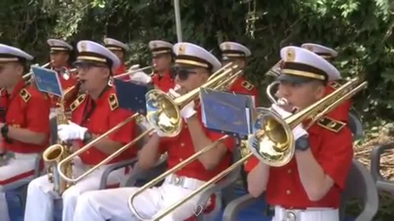 190716 Lee Jung Shin - 32 division military band performance at Cheonan 7.8 War Memorial Ceremony