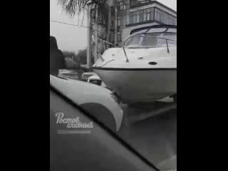 ДТП с лодкой на Шолохова  Ростов-на-Дону Главный