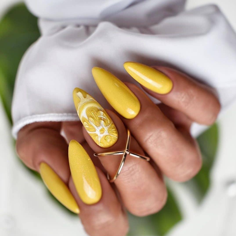 Лимонные ноготки