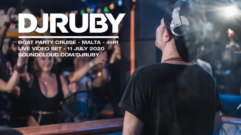 DJ Ruby Boat Party Cruise 4hr Live Video Set Malta 11 July 2020