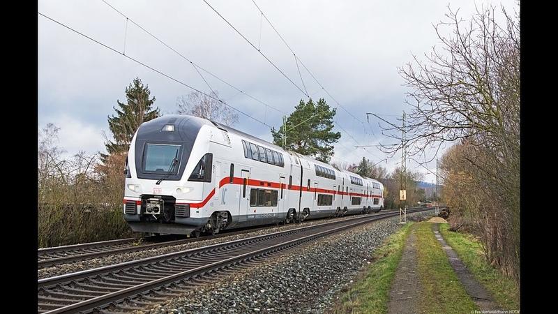 Der neue Intercity KISS, tonnenschwerer WFL Holzzug, Flixtrain, RTB uvm. auf der Frankenwaldbahn