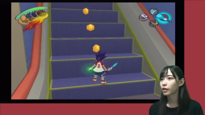 200525 Ishizuka Akari playing at Ape Escape 3