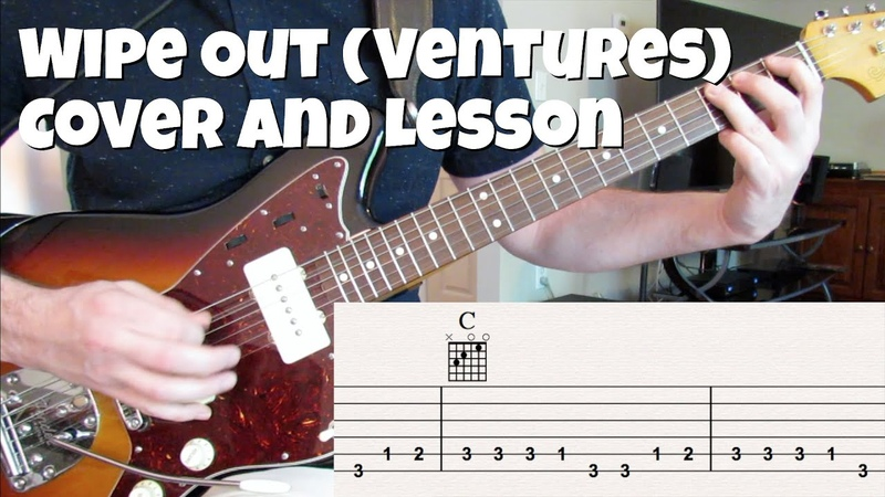 Wipe Out cover and lesson (Ventures live version)