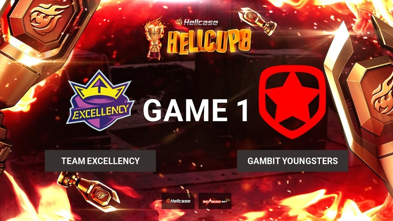 RU Team Excellency vs Gambit Youngsters Карта 1 Overpass BO3 Hellcase Cup 8 Группа B