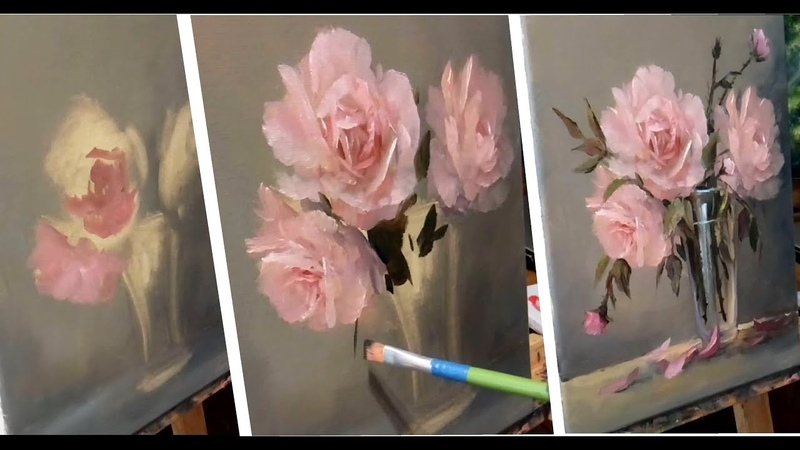 41 How to Paint PINK ROSES