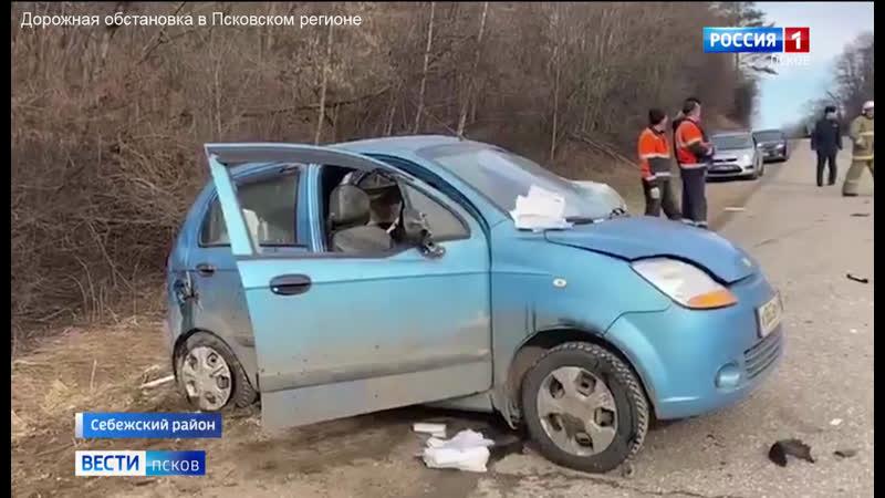 В Себежском районе в результате обгона по встречной полосе погиб 65 летний мужчина