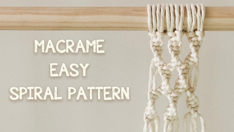 DIY MACRAME TUTORIAL HOW TO MAKE MACRAME SPIRAL PATTERN