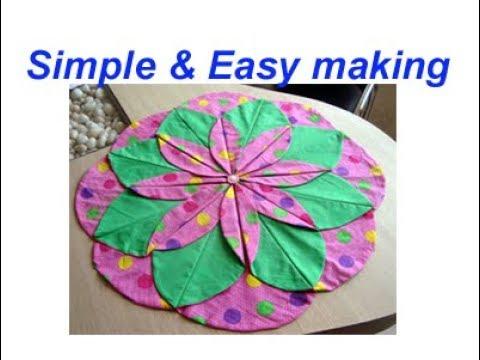 DIY handmade Table mat/placemat/floor mat/door mat/carpet/area rug/best craft idea