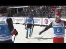 Стычка после финиша Владислава Афанасьева и Антона Быкова. Удары лыжей и палкой! ЧР по лыжным гонкам 2021
