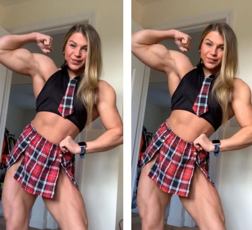 В 17 лет британка Эмили Брэнд весила 31 кг, а сейчас накачалась так, что выигрывает конкурсы среди бодибилдеров