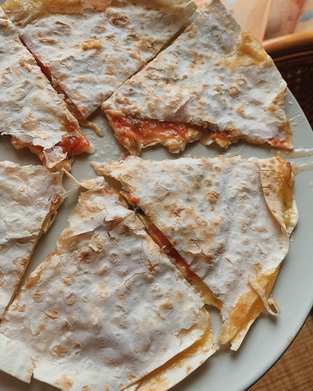 Лепёшка -«пицца» из лаваша