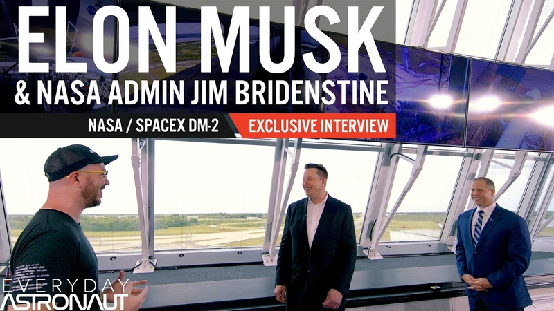 Talking to Elon Musk and Jim Bridenstine about SpaceX's first crewed launch