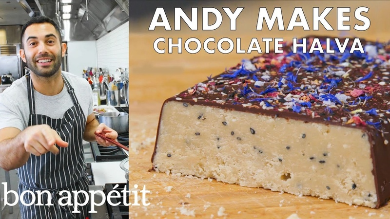 Andy Makes Salted Chocolate Halva From the Test Kitchen Bon Appétit
