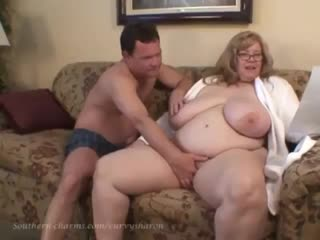 Curvy Sharon - Bedtime Foreplay with Auntie Sharon Porn BBW