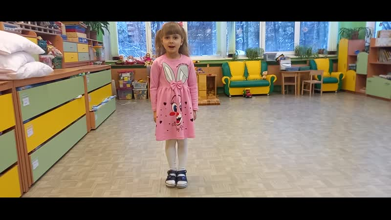Горбунова Саша, 4 года, А.Барто Было утром тихо в доме, ГБДОУ дс № 67 Выборгского района