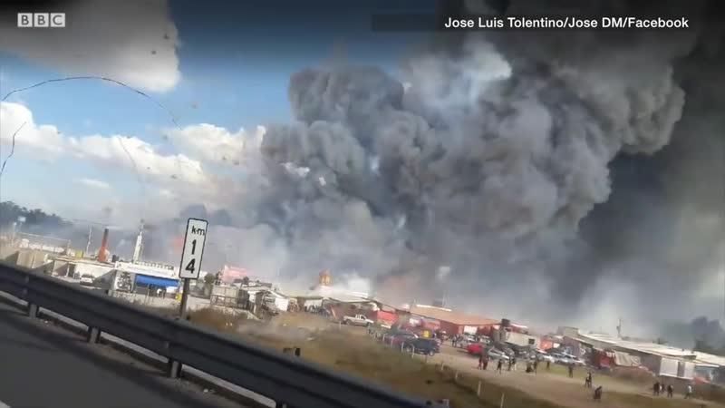 Взрыв на рынке фейерверков в Мексике Рруппа Опасная ПРанета
