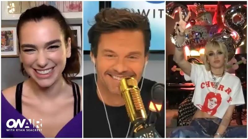 Miley Cyrus Dua Lipa Talk 'Prisoner'   On Air With Ryan Seacrest