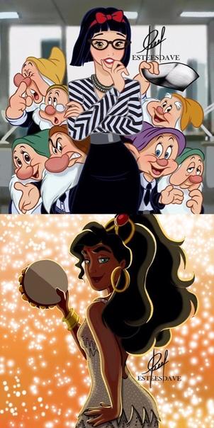 Бритни Спирс нарисовали в образах Disney! Как вам