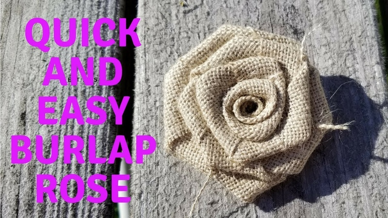 How To Make A Quick and Easy Burlap Rose Easy Step By Step Instructions burlap burlapwedding