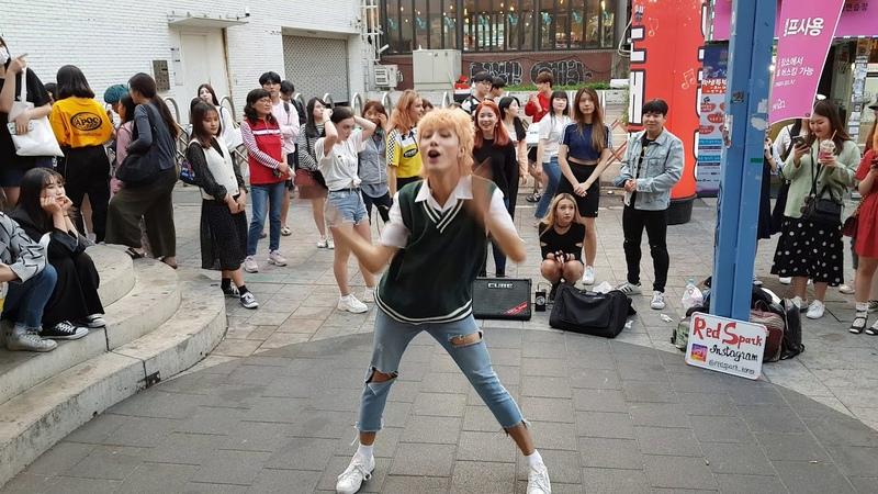20190514 홍대 항상 새로운 미녀댄스팀 레드스파크(RED SPARK) (0811) 게스트 - 매튜(Matthew)